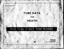 Tube Data für Heathkit IT-17, IT-21, IT-3117