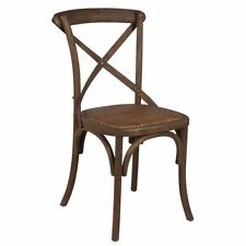 Chaise bouleau et rotin tressé bois vieilli ROMANCE INTERNATIONAL DESIGN *NEUF*
