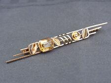 Bella vecchia spilla 585/- Gold CITRIN circa 40er anni firmato