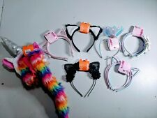 Head Band Lot Unicorn with tail /Princess /Cat Ears /Bows Clair's NEW