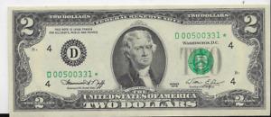 CU 1976 $2 FEDERAL RESERVE NOTE - CLEVELAND - ⭐⭐⭐ STAR NOTE ⭐⭐⭐