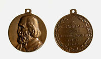s735_18) Medaglietta commemorativa Giuseppe Garibaldi   Ø 28 mm AE