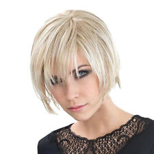 10 inch Short Straight Full Wigs Synthetic Chic Wig with Bangs for Women
