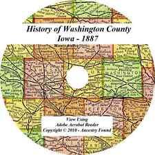 1887 History & Genealogy of WASHINGTON COUNTY IOWA Washington Kalona IA Families
