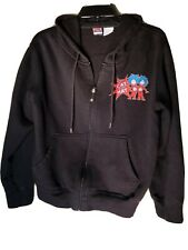 Dr Seuss Zip Up Hoodie Black Cat In The Hat Thing One Thing Two Size Large AD171