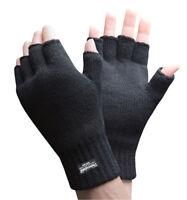 Thinsulate 3M 40 gram Uomo Nera Invernali Sottili Guanti a Maglia senza dita