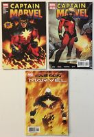 Captain Marvel All #1s Lot 2002 and 2008 Variant 2nd Print Limited Series Comics