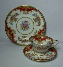 SHELLEY china SHERATON PINK pattern Cup Saucer & Salad Plate TRIO