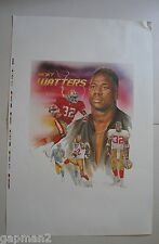 "San Francisco 49ers Ricky Watters 1992 Poster 23"" x 35"" Print Proof Beauty!"