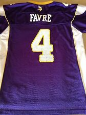Reebok Minnesota Vikings Brett Favre Youth Purple Jersey Size Large 14-16