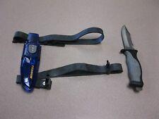 Titanium Scuba Divers Knife - Black & Gray Survival Tool with case