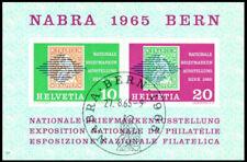 Schweiz gestempelt mit Block 20 - NABRA 1965