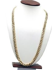 "14k Yellow Solid Gold Miami Cuban Link Chain 26"" 9.2mm 140 Grams"