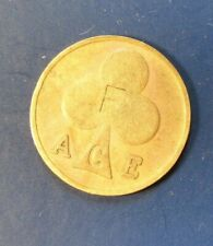 ORIGINAL BIKERS 1960s ACE CAFE GAMING TOKEN Stamped with 'F' both sides