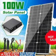 100W Solar Panel 12V battery Charger 10A/20A/30A Controller Caravan Boat RV Kit