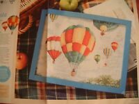 Cross stitch chart by Anchor of some hot air balloons