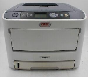 OKI C610 HD Color  Workgroup Laser Printer N31193a  NO Toner TESTED
