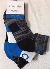 Calvin Klein 3-Pair Athletic Cotton Coolpass Quarter Crew Socks Assorted  5673
