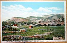 1930s Raton, NM Poscard: Raton Pass, Santa Fe Trail - New Mexico