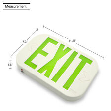 1pack Exit Sign Lighting Emergency Lights Green With Led Lamp Led Green Exit Smd