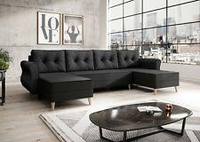 Sofa Couch Garnitur Sofagarnitur NEAPEL U mit Schlaffunktion Wohnlandschaft NEU