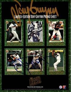 Tony Gwynn San Diego Padres Authentic Autograph 1992 Fleer Ultra LE Promo Sheet