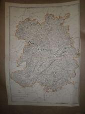 Shropshire Cir1863 map Dispatch Atlas Drawn/Engraved by E.Weller Framed 40 more