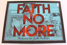 FAITH NO MORE BUMBERSHOOT 2015 SEATTLE WASHINGTON SIGNED PATTON AND BAND FRAMED!
