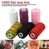 Waxed Cord Wax DIY Bracelet Jewelry Linen Spool Leather Craft Sewing Thread D8S2