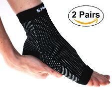 Plantar Fasciitis Compression Socks (2 Pairs Large Black) Arch Heel Pain Relief