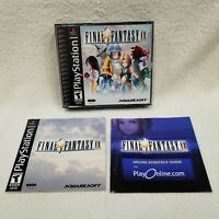 Final Fantasy IX 9 Black Label PlayStation PS1 Complete CIB Cleaned Tested Works