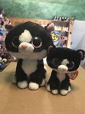 Deal: Ty PEPPER -Black/White Tuxedo Cat Beanie Boo & Buddy Set! *Retired* VHTF!!