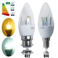 6/12x 5W E14 SES B22 BC LED SMD Candle Bulbs Spotlight Lamps Cool / Warm White