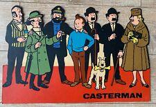 PLV ANCIENNE HERGE TINTIN CARTON CASTERMAN  26*40 Cm TBE