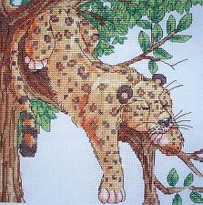 KL80 Leopard Counted Cross Stitch Kit Par Vanessa puits de goldleaf Needlework