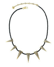 Juicy Couture Pave Spike Pearl Necklace NWT