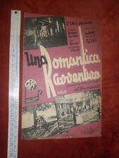 Ed. FONO ENIC - UNA ROMANTICA AVVENTURA - dal film omonimo - Milano 1941
