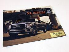 2014 Ford Super Duty XL Appearance Package Information Sheet Brochure
