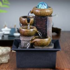 New Desktop Water Fountain Indoor Tabletop Waterfall LED Decor Housewarming Gift