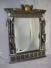 New listing Egyptian Revival Wadjet Cobra Goddess Wall Mirror with Sconces