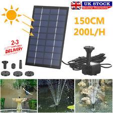 More details for 200l/h solar panel powered water feature pump garden pool pond aquarium fountain