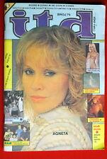 Abba Agnetha Faltskog On Cover 1983 Vintage Rare Exyugo Magazine