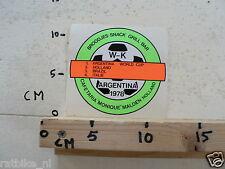 STICKER,DECAL WK ARGENTINA 1978 VOETBAL,SOCCER CAFETARIA MONIQUE MALDEN