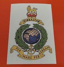 Royal Marines Globo y Laurel Impreso on7-10 Año Vinilo Pegatina De Vinilo