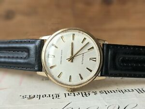 Gents Vintage Benrus Series #3011 Brushed Dial Gold Plated Dress Watch - Working