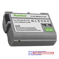 Kastar Rechargeable Li-ion Battery for EN-EL15b EN-EL15a Nikon D500 DSLR Camera