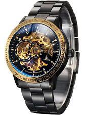 Reloj Automático Alienwork ik Auto-Cuerda Esqueleto Mecánico De Acero Inoxidable..