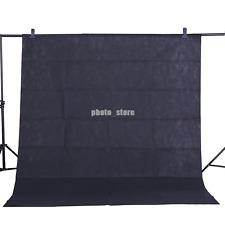 New Black Backdrop Screen Video Background Non-woven Photography Studio 1.6x1M