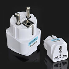 Portable  Travel Converter Universal UK US AU to EU Power Socket Plug Adapter