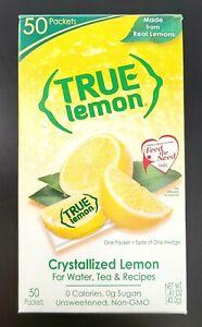 True Lemon Crystallized Lemon Packets Real Lemons 50-CT Sugar Free SAME-DAY SHIP